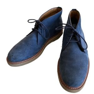 Cole Haan Men's Blue Suede Chukka Boot Size 10